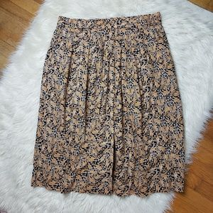 🦒J. Crew x Drake's Giraffe Print Skirt